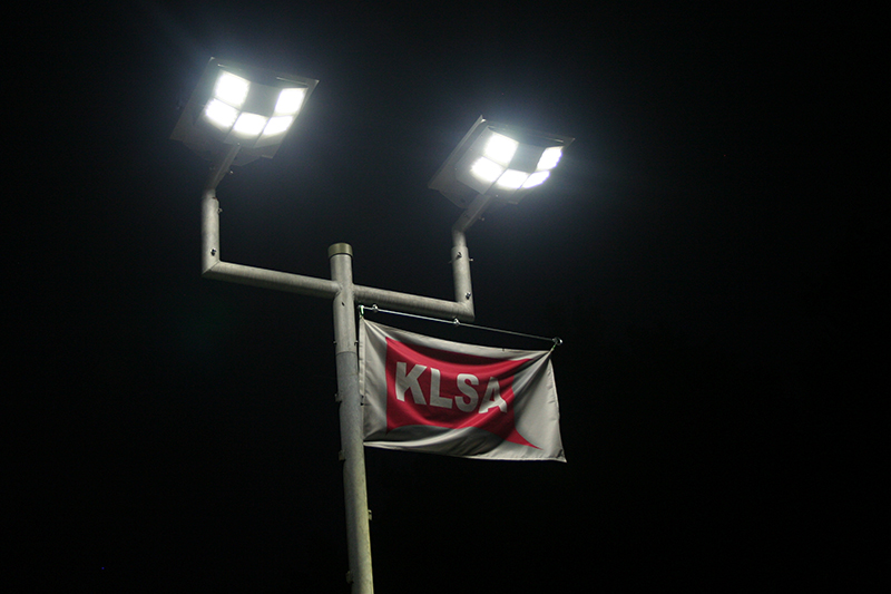 LED Solar Streetlight - LSS x5M bei Nacht